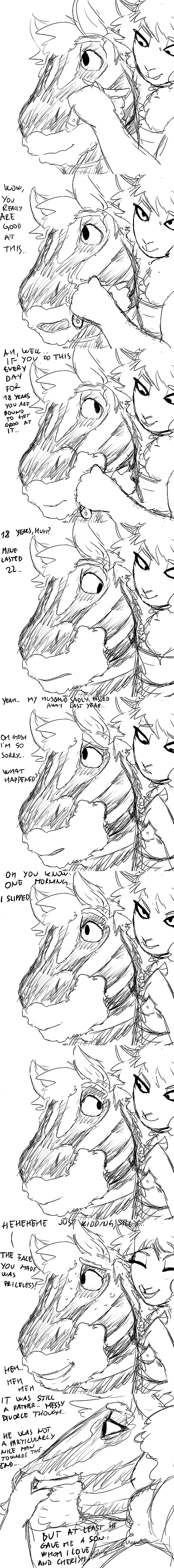 Zebra Dad and Boss Lamb